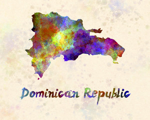 Dominican Republic in watercolor