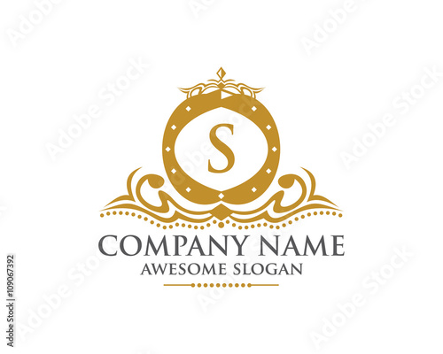 """royal crown letter s logo"""" stock image and royalty-free vector"""