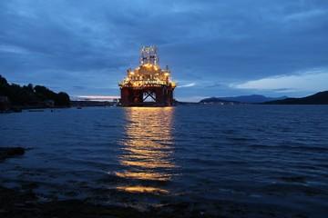 Oil platform construction in Norway