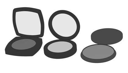 2d cartoon illustration of cosmetics (shades)