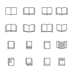 Book thin icons.