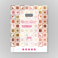 Polygonal vector design template layout for brochure