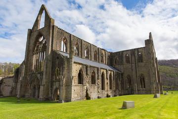 Tintern Abbey near Chepstow Wales UK ruins of monastery popular tourist destination