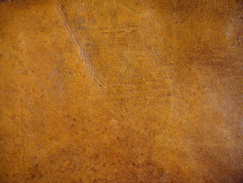 Leather texture of a vintage leather bag