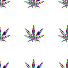 Marijuana seamless pattern 2