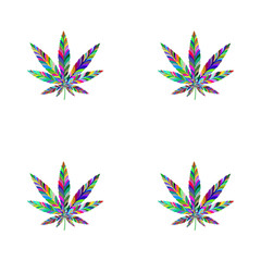 Marijuana seamless pattern 3