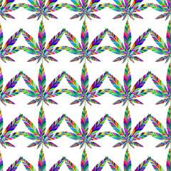 Marijuana seamless pattern 6