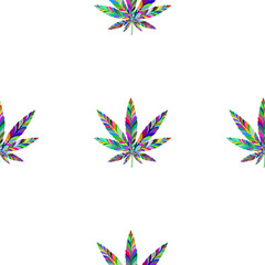Marijuana seamless pattern 11