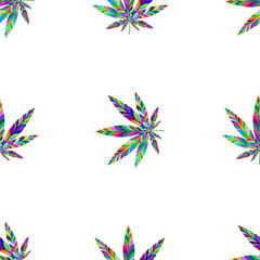 Marijuana seamless pattern 13