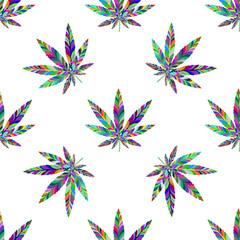 Marijuana seamless pattern 15