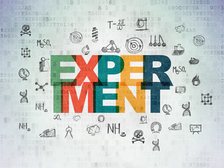 Science concept: Experiment on Digital Data Paper background