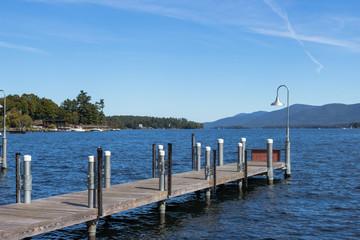 Pier on Lake George, NY, USA