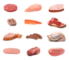 Collage of Various Meats