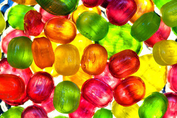 transparent candy. background of colorful candies