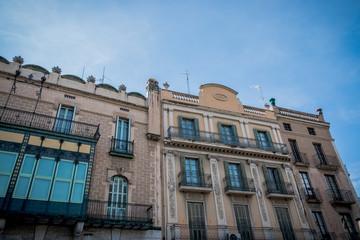 Immeubles à Figueras, Espagne