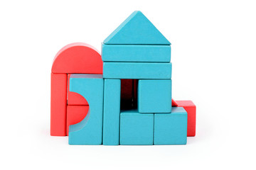 Obraz Time to play with wooden blocks - fototapety do salonu