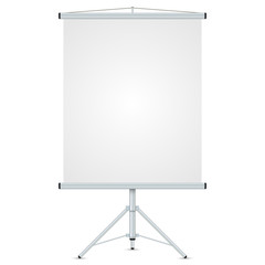 Office blank whiteboard vector template isolated on white backgr