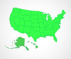 USA states - vector illustration.