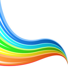 Abstract rainbow striped wave vector background.