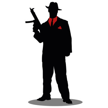 gangster silhouette