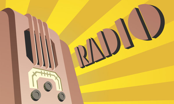 Poster Art Deco Radio