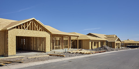 Home Building Industry in progress under construction concept ph