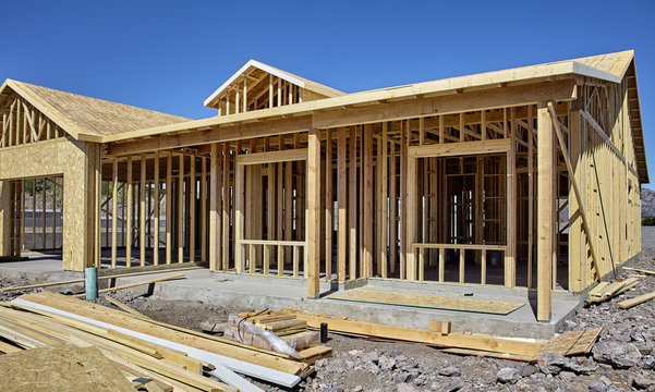 New housing carpentry wood frame construction industry