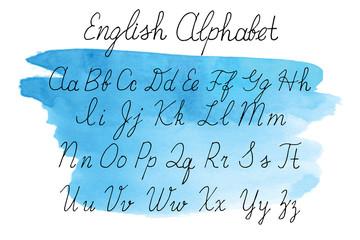Alphabet letters uppercase, lowercase.