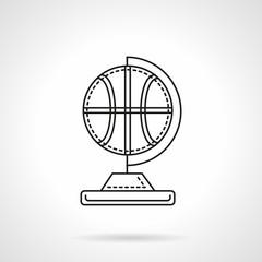 Basketball souvenir flat line vector icon