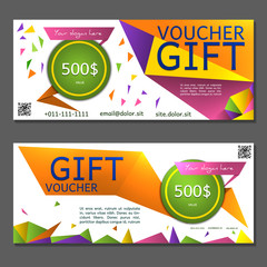 Discount voucher. Coupon and voucher template for company
