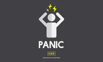 Panic Worried Stressed Afraid Fear Phobia Anxiety Concept