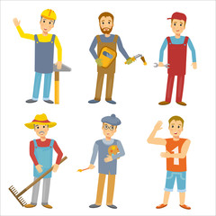 Professions collection people vector