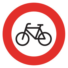 no bicycle sign sign on white background