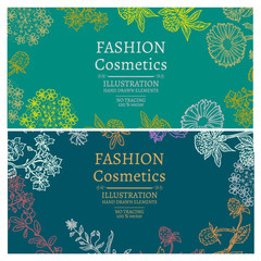 Fashion cosmetics banners