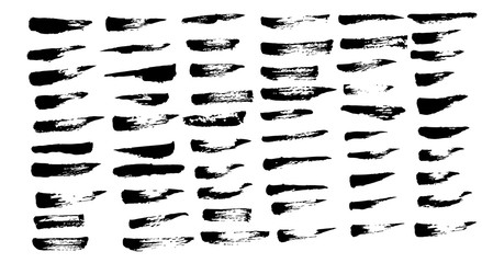 Art brush vector for illustration 60 brushes set
