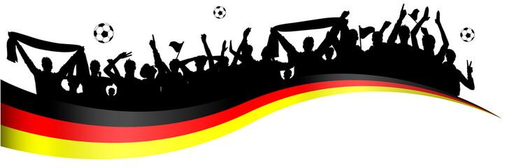Fußball Fans Deutschland Banner
