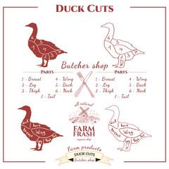 Duck cuts