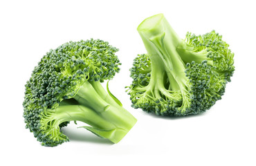 Broccoli vegetable separate isolated on white background