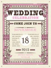 wedding celebration poster