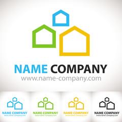 logo artisan maison construction aménagement