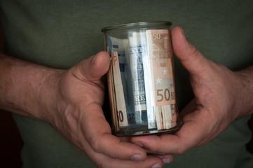 jar with money