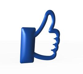 Daumen hoch Symbol - Social media (thumbs up)