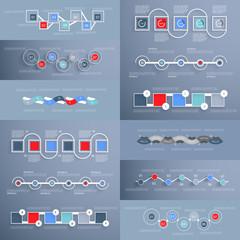 Set of infographics, design template
