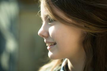 Teen girl closeup