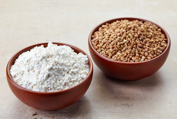Buckwheat flour and buckwheat