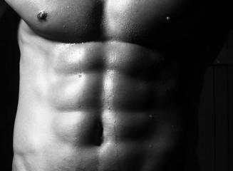 Closeup of cool male torso