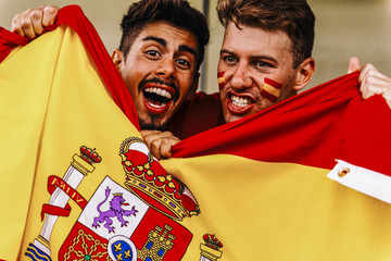 Supporters from Spain at Stadium