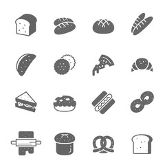 Icon set - bread and bakery