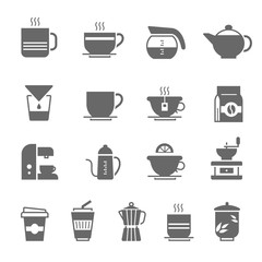 Icon set - coffee and tea