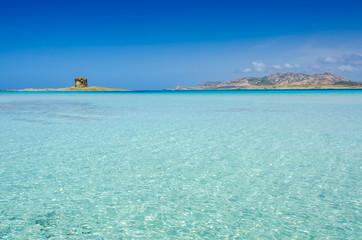 Beach Pelosa on Sardinia, Italy